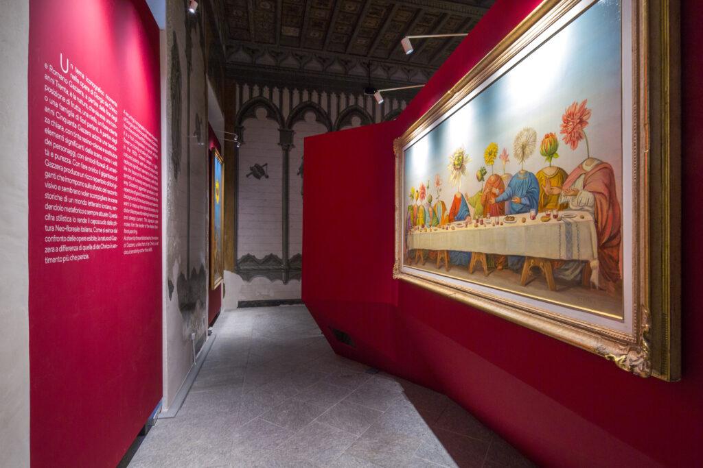 """Allestimento museale mostra """"De Chirico, Gazzera, Savinio. L'artistica amicizia"""""""